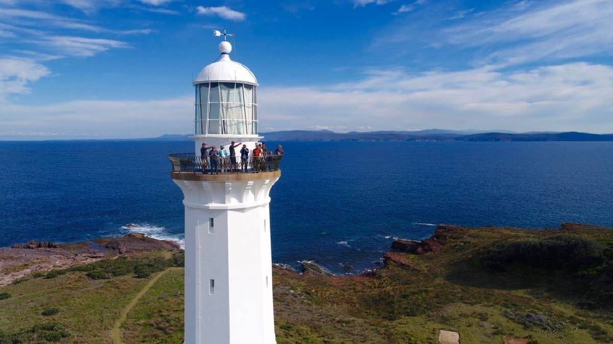 LIGHT TO LIGHT: The iconic Green Cape Lighthouse, Ben Boyd National Park. Picture: Light2Light Coastal Walks