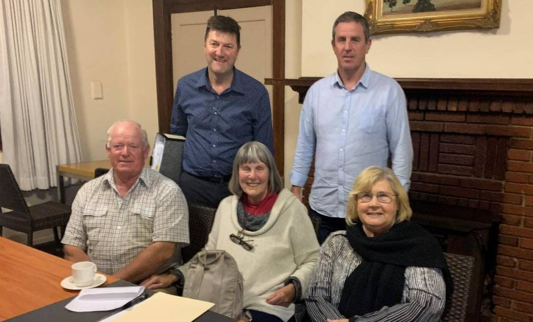 The new executive of the Bega Valley Business Forum includes Nigel Ayling chairman, Kerry McKee vice-chair, Malcom Hughes treasurer, and committee members Andrew Haydon and Jannette Neilson.
