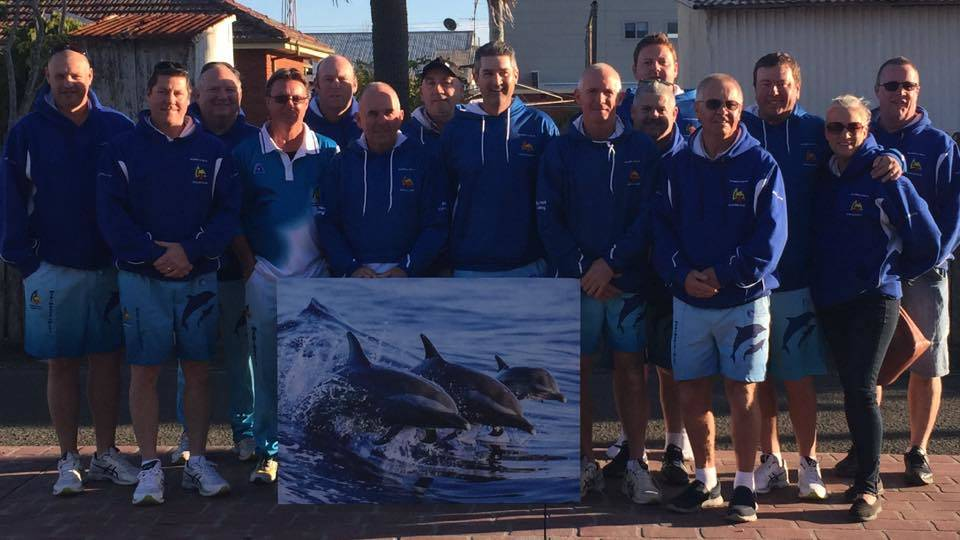 The Merimbula Dolphins division one pennant side headed to Malua Bay this weekend for a friendly with their northern neighbours to help raise funds for the rebuild.