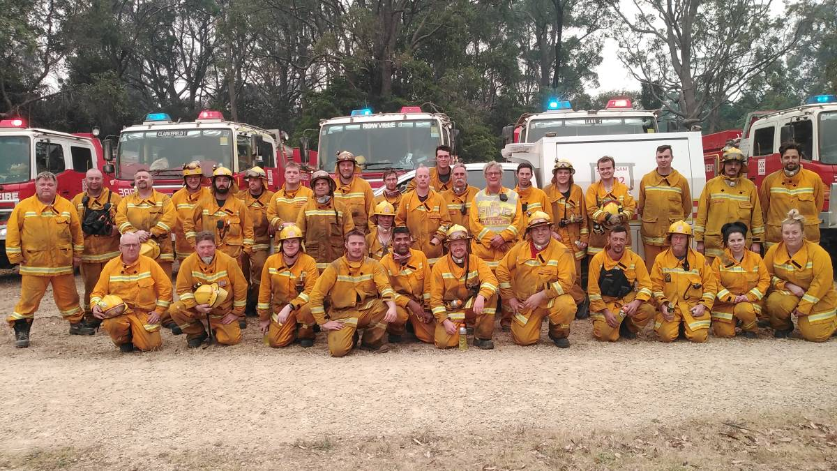 Strike team 1392 from CFA region 13 in Victoria, one of three strike teams on the fire ground In Mallacoota when the catastrophic bushfire destroyed 150 homes in what has been dubbed Black Summer. Photo: supplied