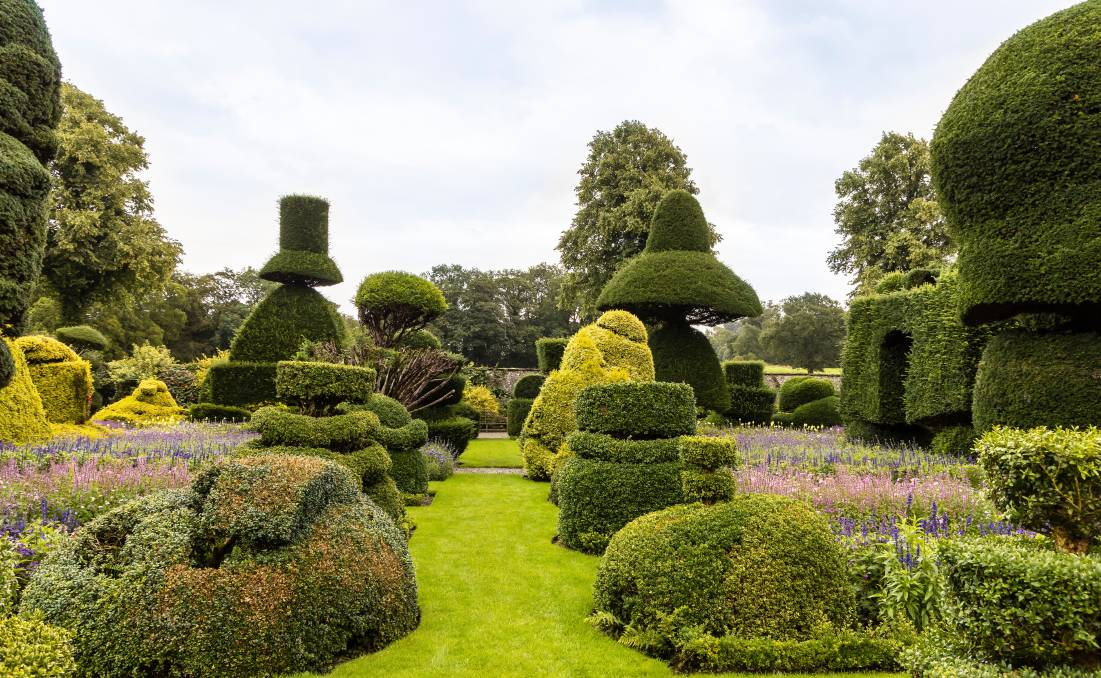 The world's oldest topiary garden, Levens Hall in England. Picture: Shutterstock.